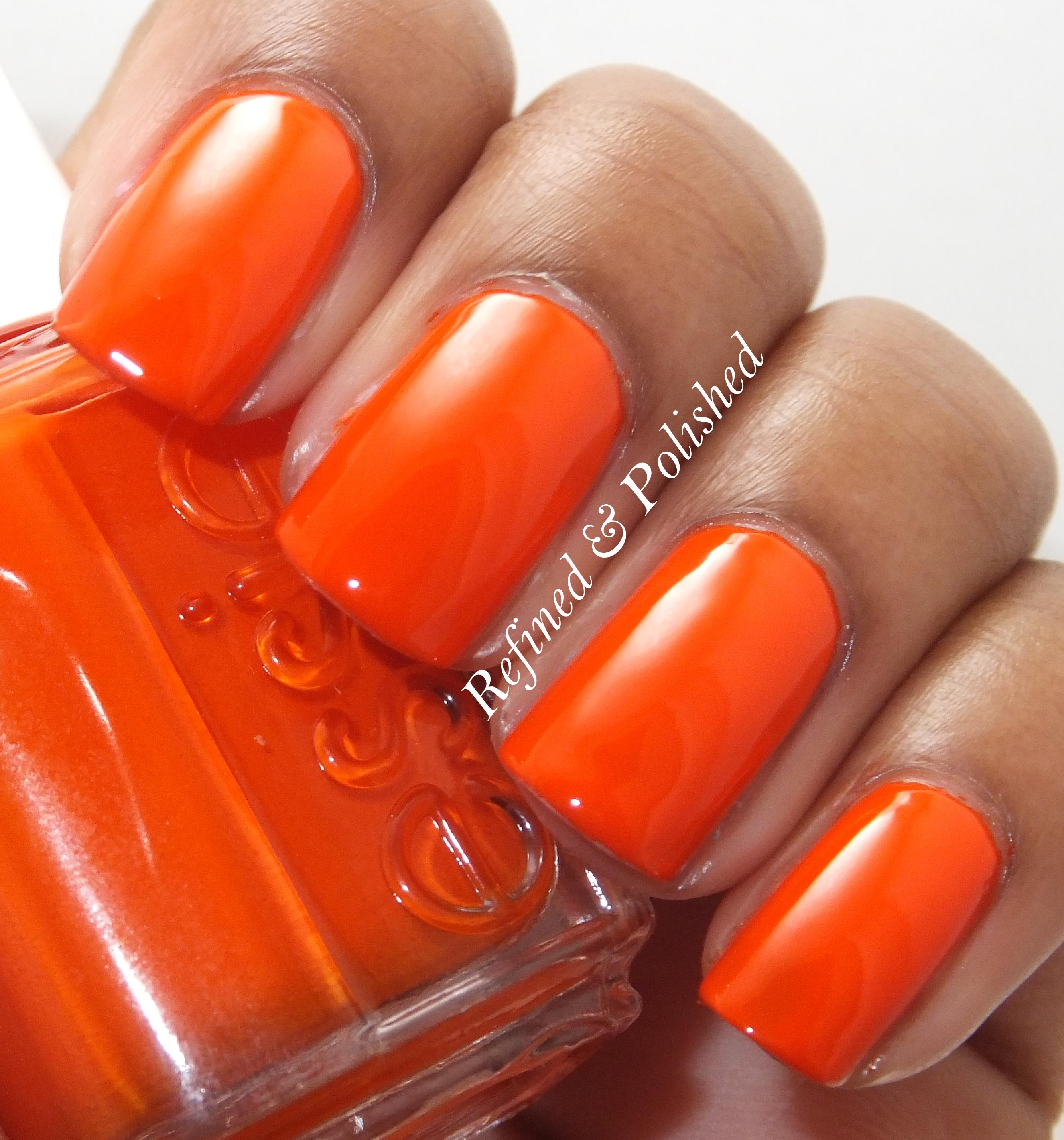 Essie Orange, It's Obvious + SeaLore Beluga Blizzard