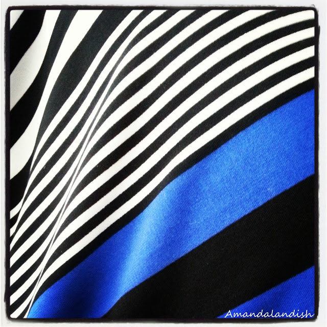 Cobalt black and white stripes