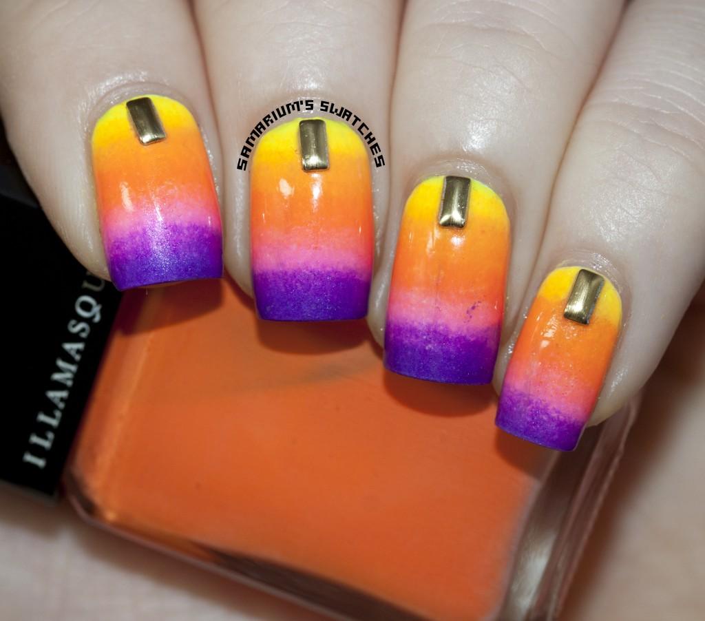 Summer Gradient Nail Art (1)