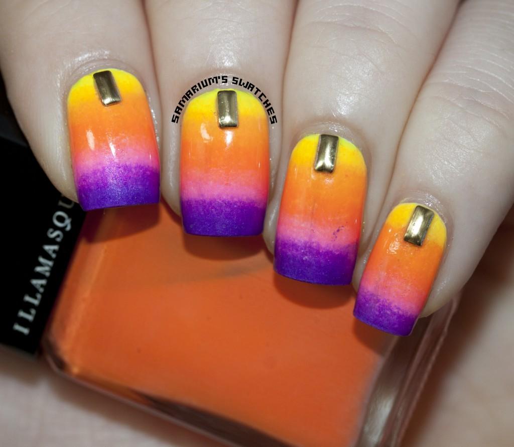 Summer Gradient Nail Art (2)