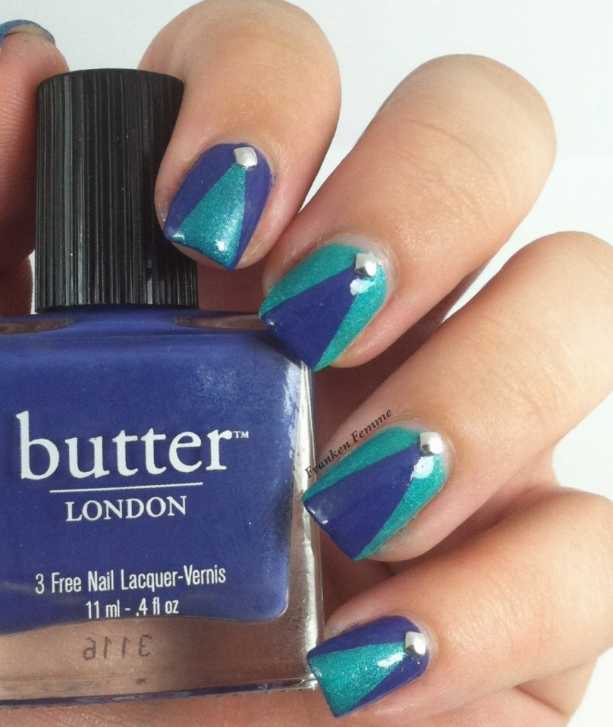 Butter London Giddy Kipper Franken Femme Crushed Velvet and Born Pretty Stud Swatch