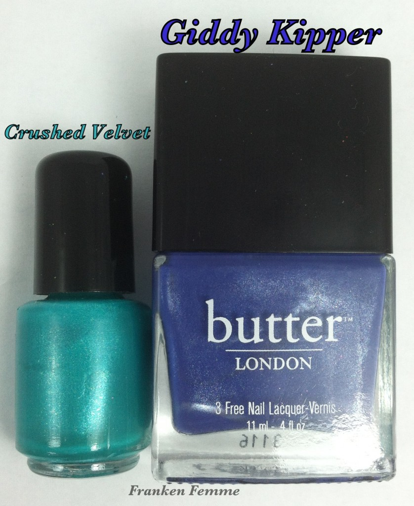 Butter London Giddy Kipper and Franken Femme Crushed Velvet bottles