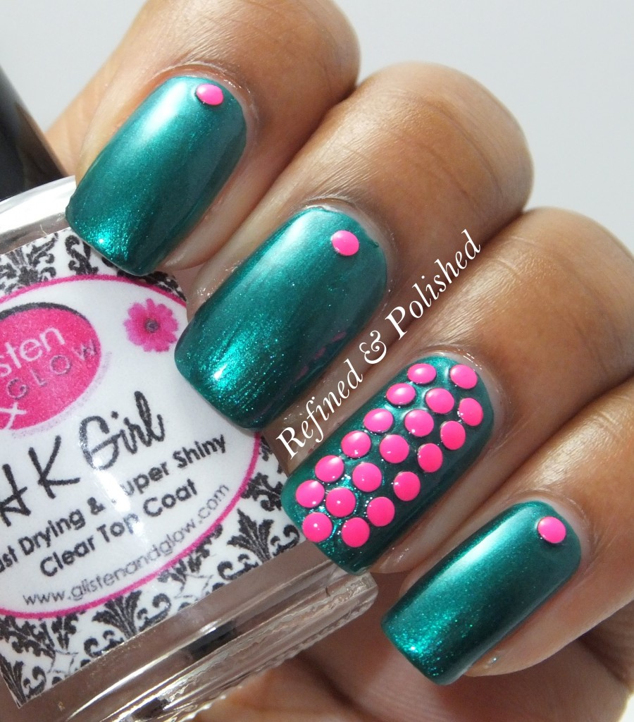BornPretty Neon Pink Studs