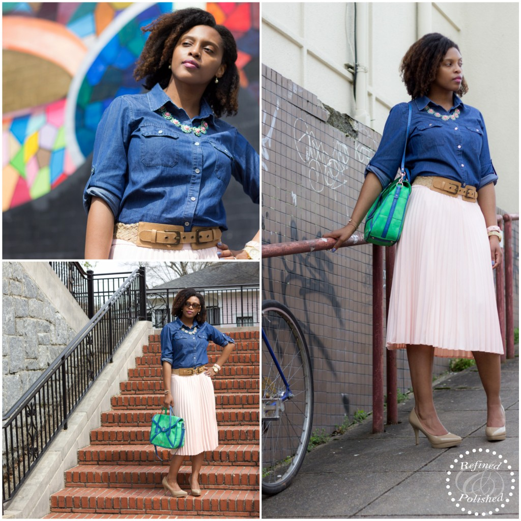 Chambray-&-Pleats